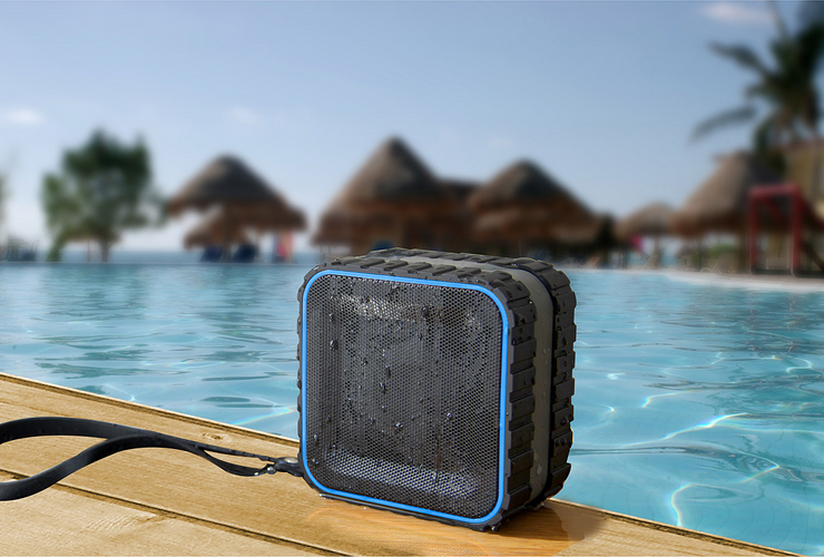 Melody Fusion Monthly Mini Contest April 2014 prize: Bluetooth water resistant beach speaker